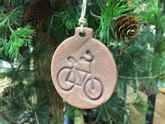 Pottery Bike Ornament