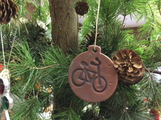 Bike tree ornament.