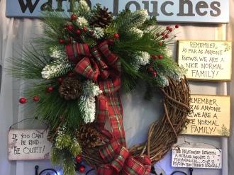 Christmas Wreath fo rthe door.